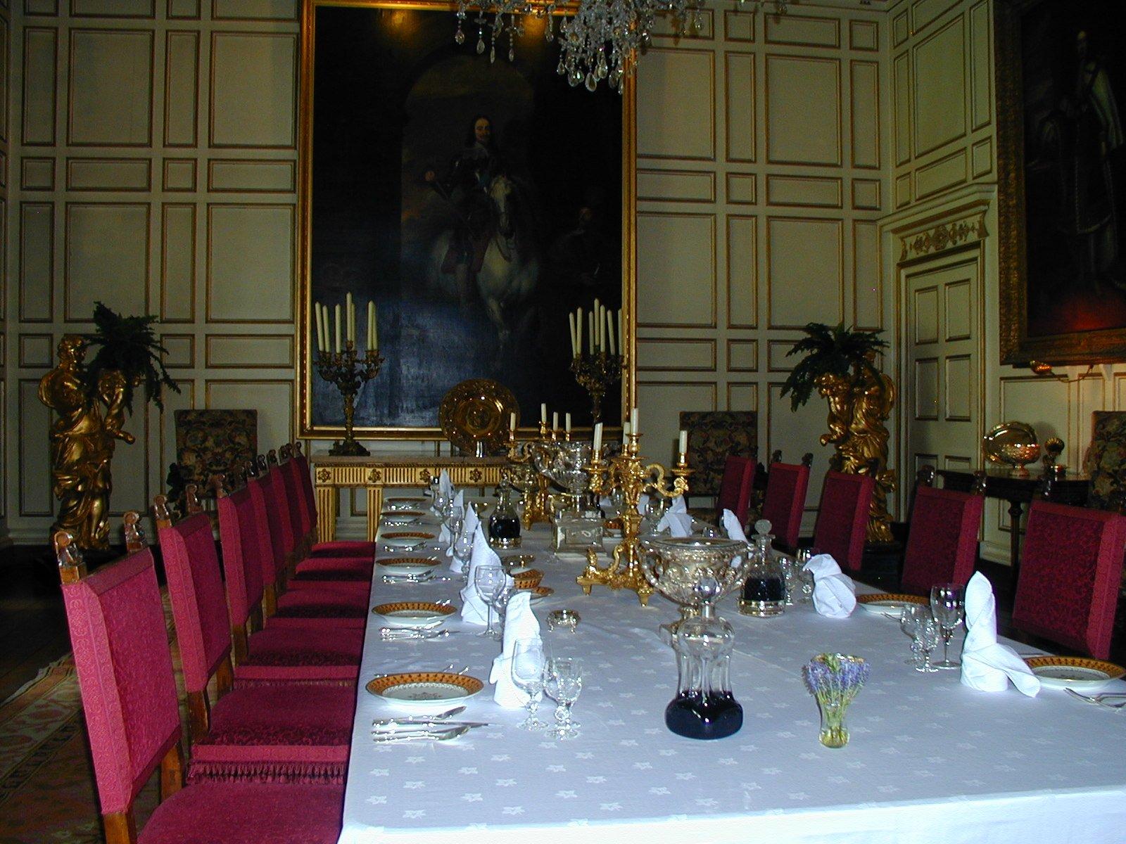 16th Part 2 Warwick Castle, Warwick Castle State Dining Room Set